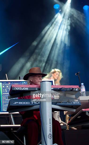 Keyboarder Edgar Froese of the German synthesizer band Tangerine Dream performs live during a concert at the Zitadelle Spandau on August 30 2009 in...