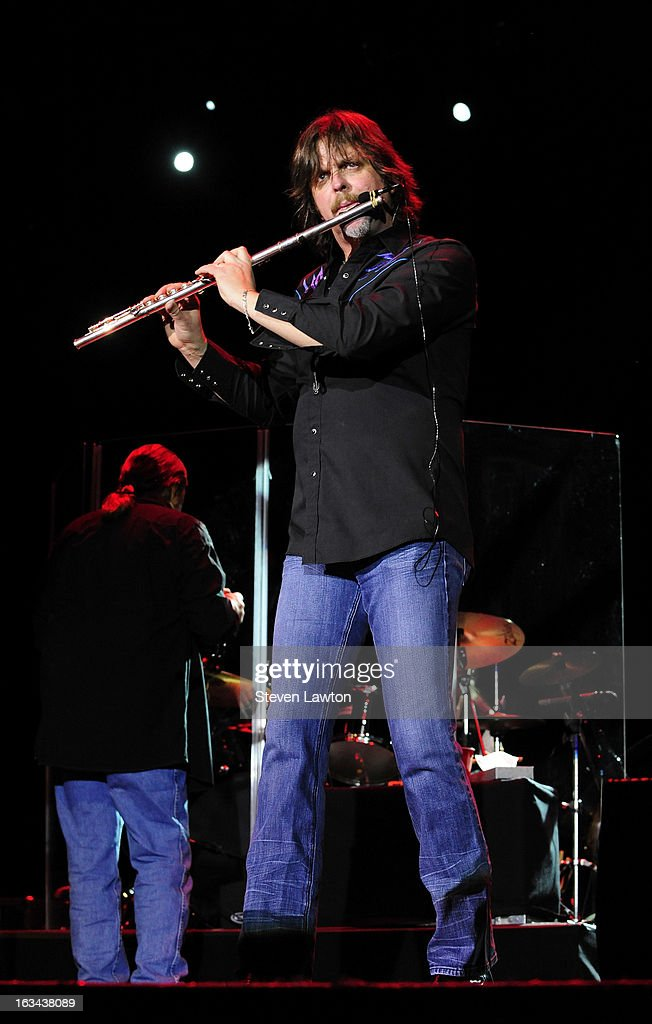 Keyboard/flute player Marcus James Henderson of The Marshall Tucker Band performs at The Orleans Showroom at The Orleans Hotel & Casino on March 9, 2013 in Las Vegas, Nevada.