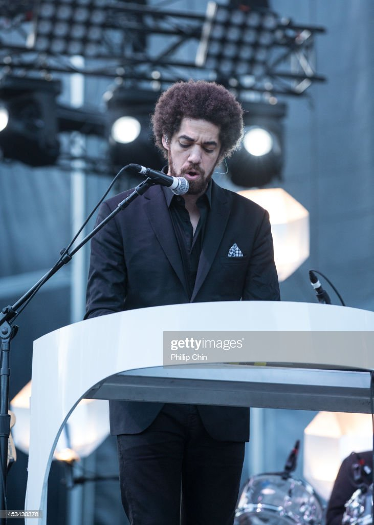 Keyboardist Brian Burton aka Danger Mouse of Broken Bells performs at the Squamish Valley Music Festival on August 9, 2014 in Squamish, Canada.