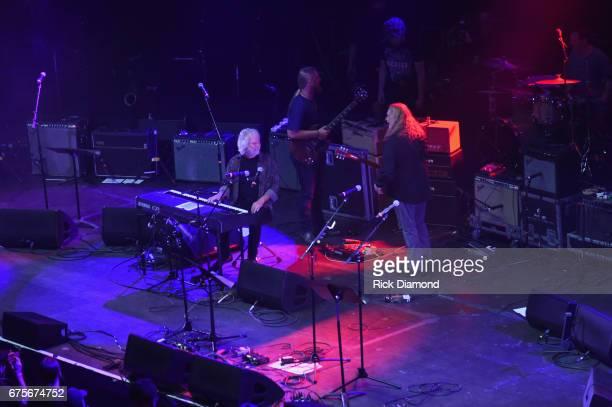 Keyboardist Chuck Leavell of the Rolling Stones guitarist Derek Trucks and Guitarist Warren Haynes of Gov't Mule perform at 'Hampton 70 A Celebration...