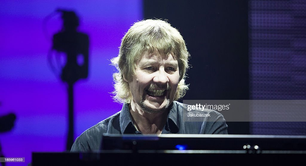 Keyboardist Don Airey of the English band Deep Purple performs live during a concert at the Max-Schmeling-Halle on October 26, 2013 in Berlin, Germany.