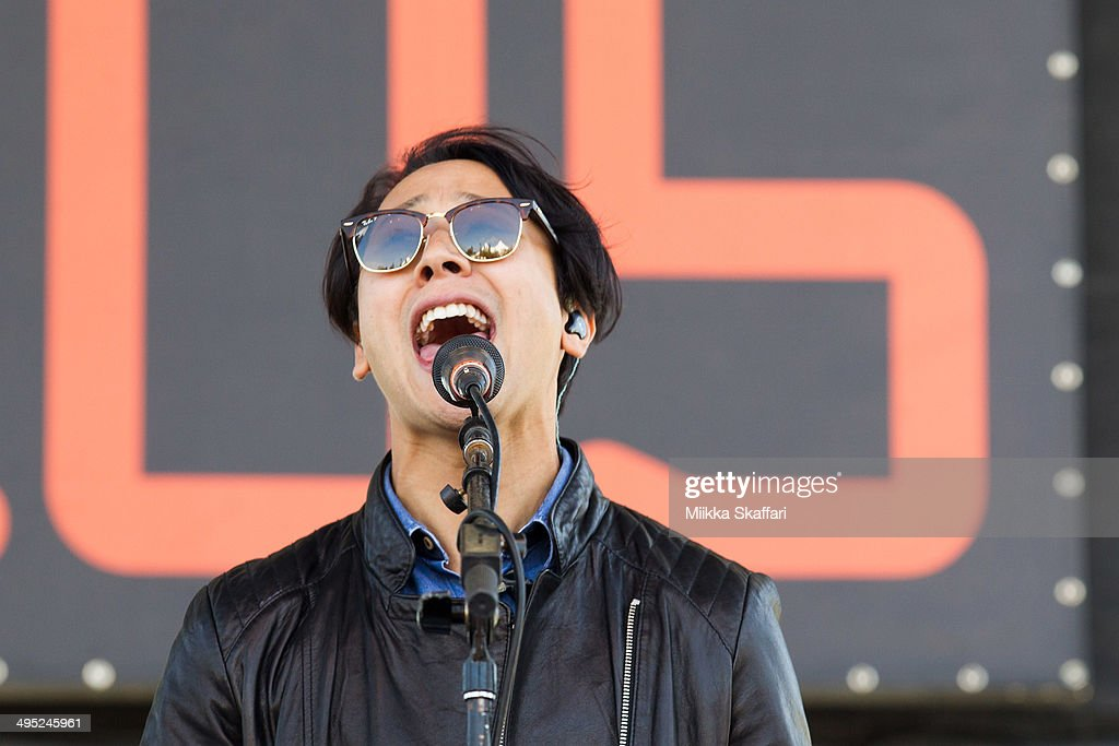 Keyboardist Glenn Sarangapany of Birds of Tokyo performs at Live 105 BFD on June 1, 2014 in Mountain View, California.