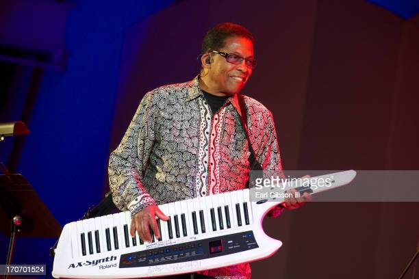Keyboardist Herbie Hancock performs on Day 1 of the 35th Annual Playboy Jazz Festival at The Hollywood Bowl on June 15 2013 in Los Angeles California
