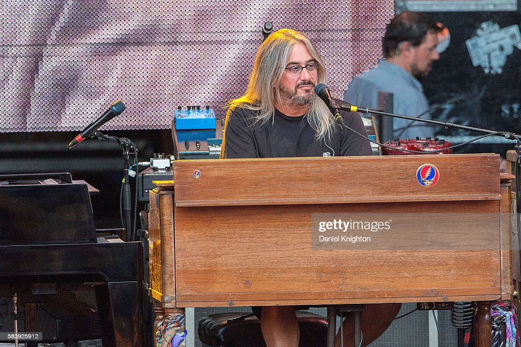 Keyboardist Jeff Chimenti of Dead & Company performs on stage at Sleep Train Amphitheatre on July 27, 2016 in Chula Vista, California.
