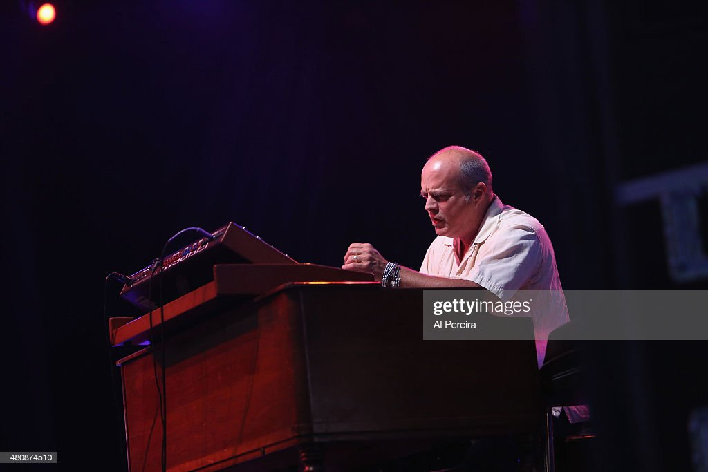 Keyboardist John Medeski performs with the Supergroup The Word at the Lowdown Hudson Music Festival Day Two at Brookfield Place on July 15 2015 in...