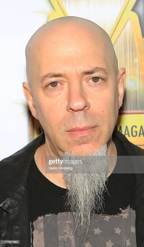 Keyboardist Jordan Rudess arrives at the 2013 Vegas Rocks! magazine music awards at The Joint inside the Hard Rock Hotel & Casino on August 25, 2013 in Las Vegas, Nevada.