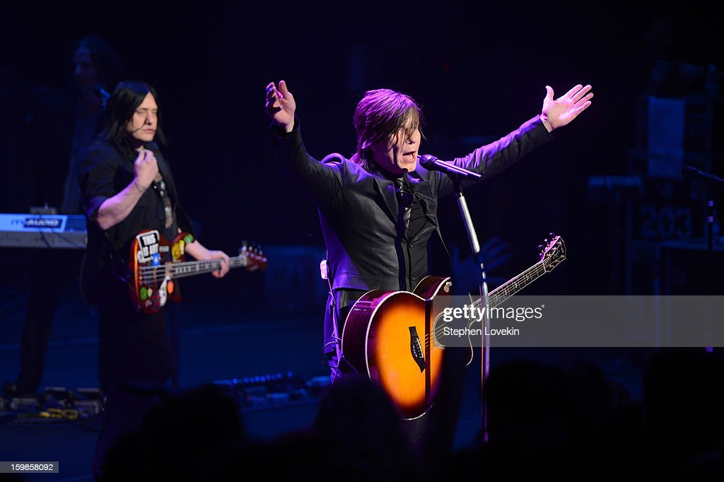 Keyboardist Korel Tunador, bassist Robby Takac, and singer/guitarist Johnny Rzeznik of the Goo Goo Dolls perform onstage at The Creative Coalition's 2013 Inaugural Ball at the Harman Center for the Arts on January 21, 2013 in Washington, United States.