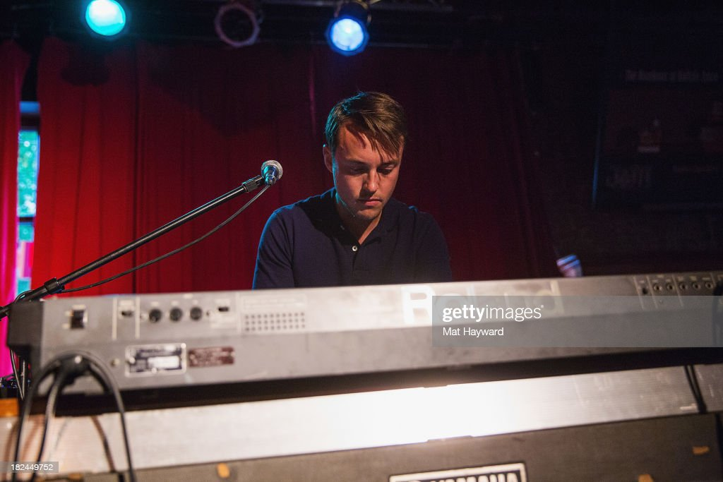 Keyboardist Mark Bond of the Features performs during an EndSession hosted by 107.7 The End at the J&M Cafe on September 29, 2013 in Seattle, Washington.