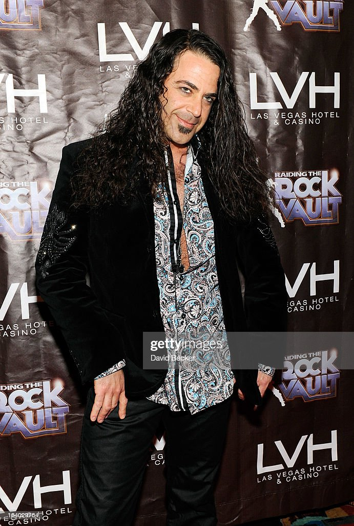 Keyboardist Michael T. Ross arrives at the grand opening of 'Raiding the Rock Vault' at the Las Vegas Hotel & Casino on March 18, 2013 in Las Vegas, Nevada.