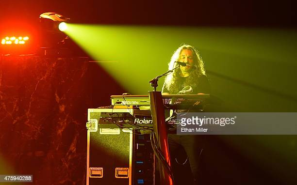 Keyboardist Michele Luppi of Whitesnake performs at The Joint inside the Hard Rock Hotel Casino as the band tours in support of 'The Purple Album' on...