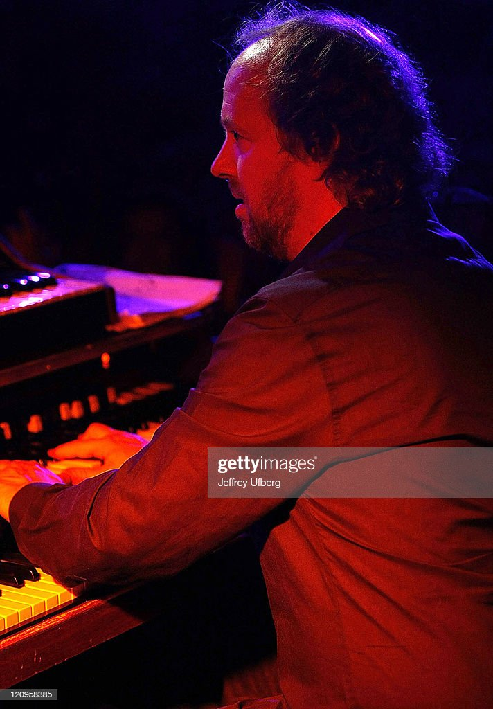 Keyboardist Page McConnell, formerly of Phish, joins in with Porter Batiste Stoltz during their performance at BB King Blues Club & Grill on September 26, 2008 in New York City.