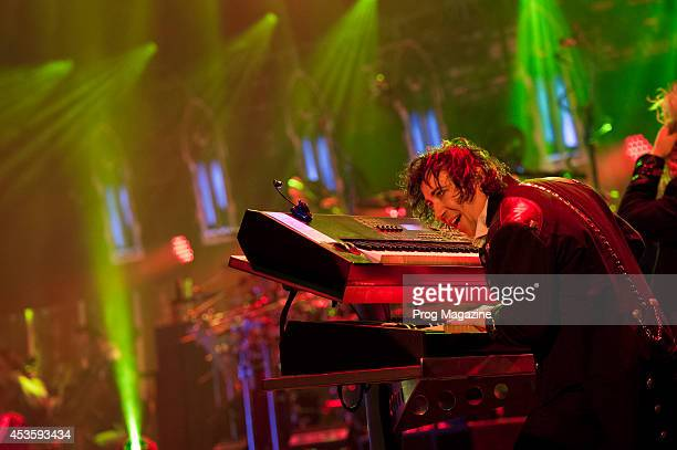 Keyboardist Vitalij Kuprij of American progressive rock group TransSiberian Orchestra performing live on stage at the Hammersmith Apollo in London on...