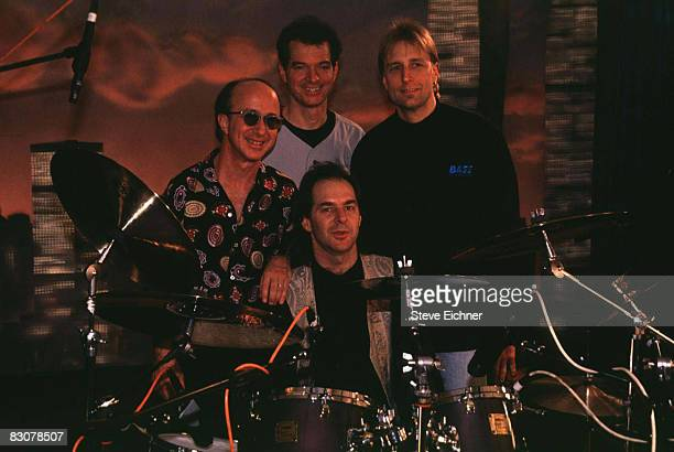 Keyboardistbandleader Paul Shaffer Guitarist Sid McGinnis Bassist Will Lee and Drummer Anton Fig of the 'Late Night with David Letterman' Band