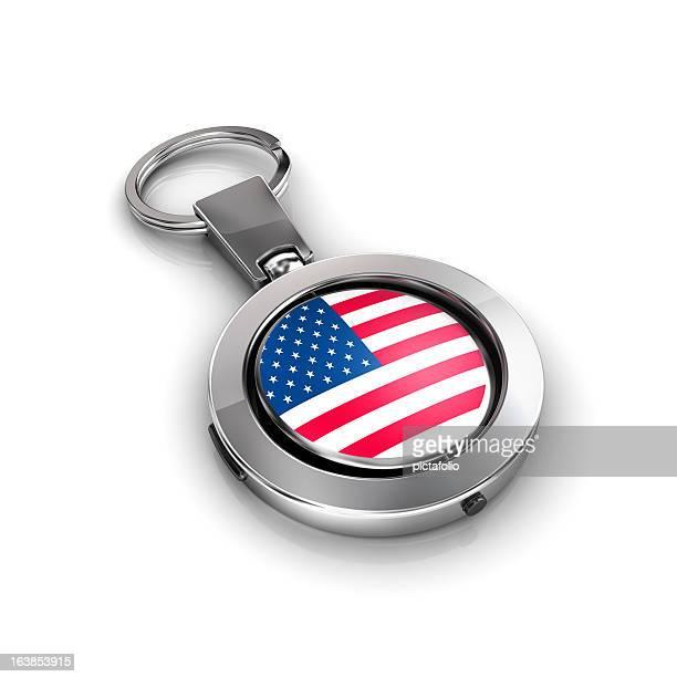 Schlüsselband mit usa-Flagge