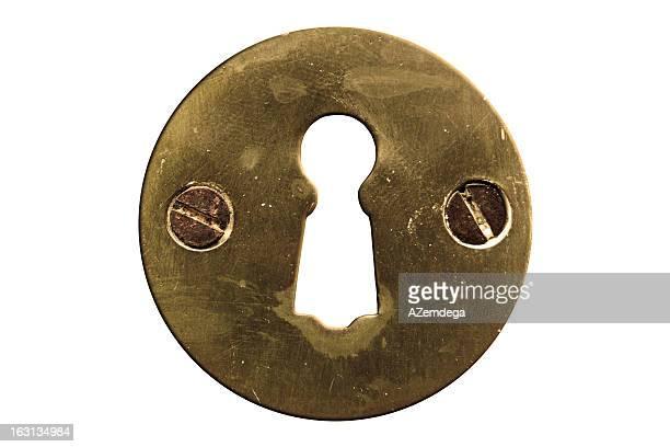 Schlüssellochdetail mit clipping path