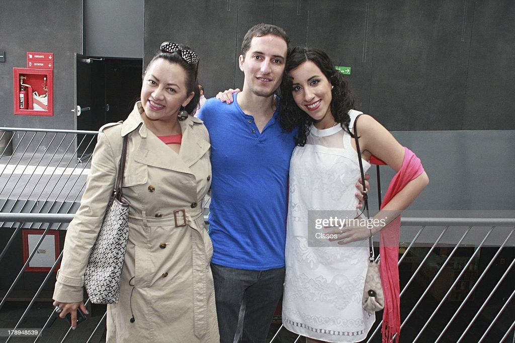Keyla Wood, Ivan Lowenberg and Victoria Santaella pose before a press conference of the movie La Castracion at the National Film Archive on august 30, 2013 in Mexico City, Mexico.