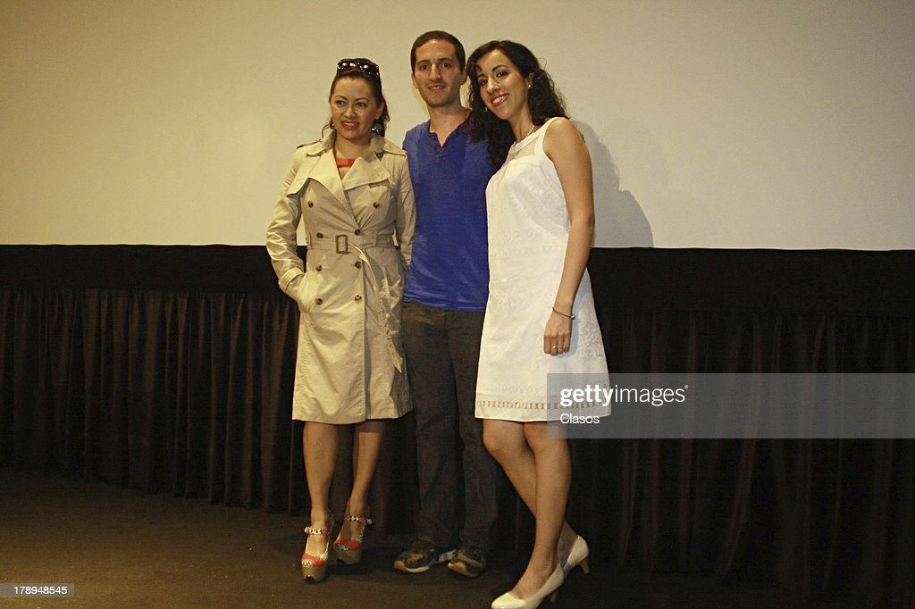Keyla Wood, Ivan Lowenberg and Victoria Santaella pose during a press conference of the movie La Castracion at the National Film Archive on august 30, 2013 in Mexico City, Mexico.