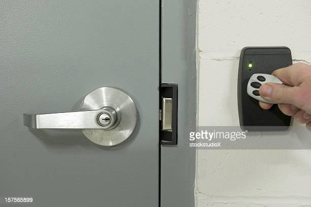 Keyless security sensor to unlock door