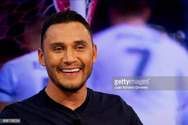 Keylor Navas attends 'El Hormiguero' Tv show at Vertice Studio on January 21 2016 in Madrid Spain