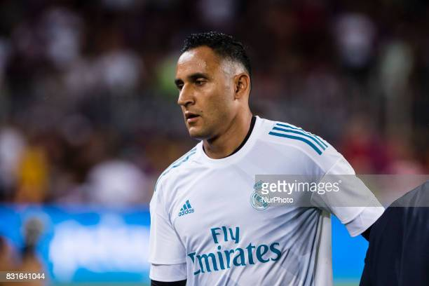 Keylor Navas before the match between FC Barcelona Real Madrid for the first leg of the Spanish Supercup held at Camp Nou Stadium on 13th August 2017...