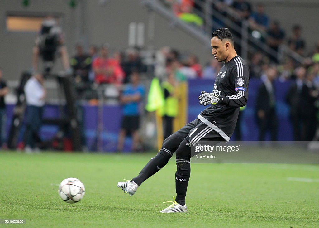 Keylor Navas (1) during the Champions League final between Real Madrid CF and Club Atletico de Madrid at the Giuseppe Meazza Stafium of Milan on may 28, 2016 in Milan, Italy.