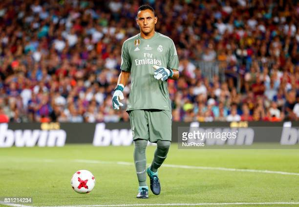 Keylor Navas during the spanish Super Cup match between FC Barcelona v Real Madrid in Barcelona on August 13 2017