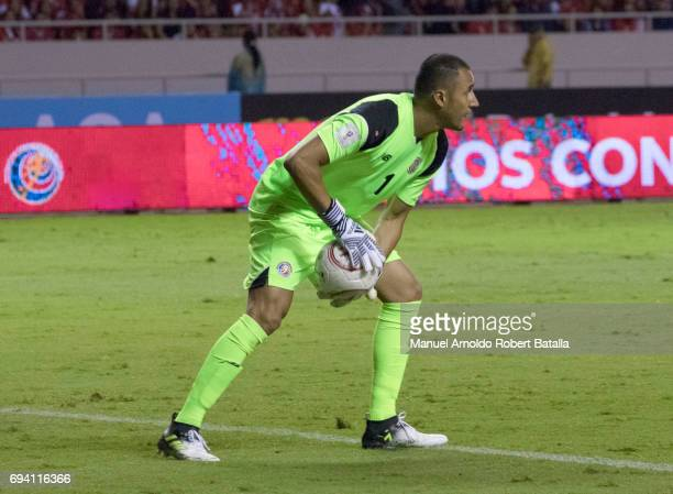 Keylor Navas goalkeeper of Costa Rica in action during the match between Costa Rica and Panama as part of the FIFA 2018 World Cup Qualifiers at...