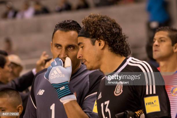 Keylor Navas of Costa RIca and Guillermo Ochoa of Mexico talk prior the match between Costa Rica and Mexico as part of the FIFA 2018 World Cup...
