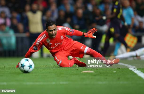 Keylor Navas of Real Madrid during the UEFA Champions League group H match between Real Madrid and Tottenham Hotspur at Estadio Santiago Bernabeu on...