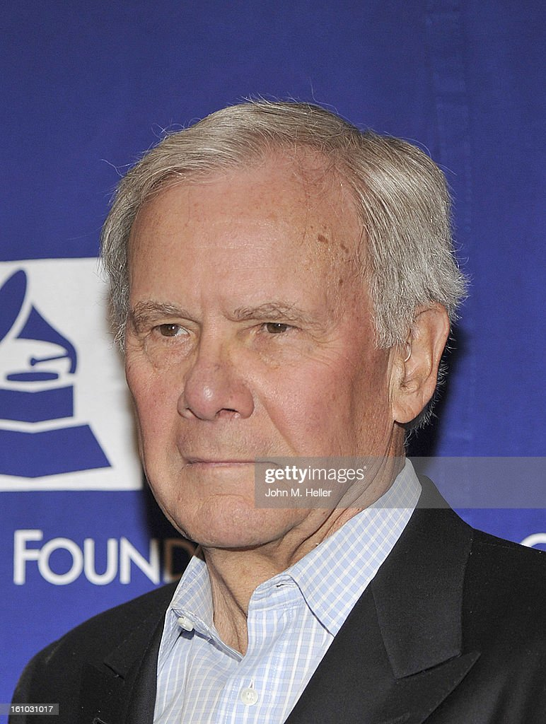 Keynote Speaker/Special Correspondent NBC News <a gi-track='captionPersonalityLinkClicked' href=/galleries/search?phrase=Tom+Brokaw&family=editorial&specificpeople=203263 ng-click='$event.stopPropagation()'>Tom Brokaw</a> arrives at the 2013 Grammy Foundation's 15th Annual Entertainment Law Initiative Luncheon at the Beverly Hills Hotel on February 8, 2013 in Beverly Hills, California.