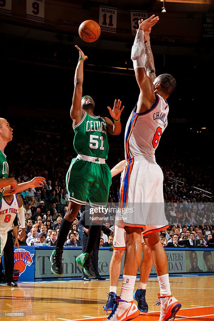 <a gi-track='captionPersonalityLinkClicked' href=/galleries/search?phrase=Keyon+Dooling&family=editorial&specificpeople=202647 ng-click='$event.stopPropagation()'>Keyon Dooling</a> #51 of the Boston Celtics shoots against <a gi-track='captionPersonalityLinkClicked' href=/galleries/search?phrase=Tyson+Chandler&family=editorial&specificpeople=202061 ng-click='$event.stopPropagation()'>Tyson Chandler</a> #6 of the New York Knicks on April 17, 2012 at Madison Square Garden in New York City.