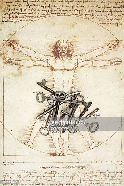 Keys and DaVinci Man Figure