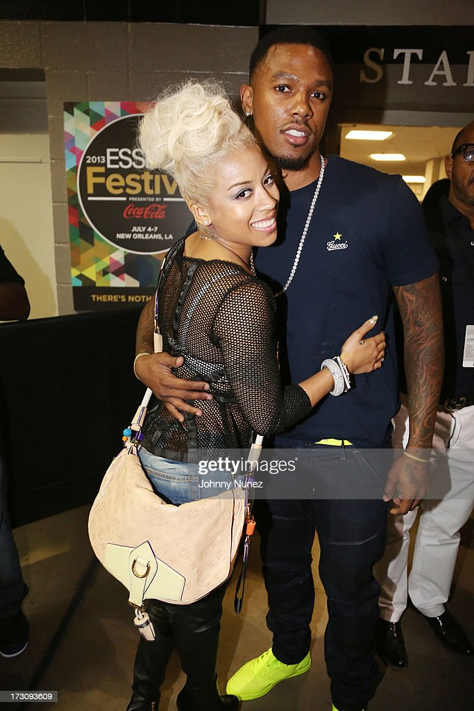 Keyshia Cole and Daniel Gibson attend the 2013 Essence Festival at the Mercedes-Benz Superdome on July 6, 2013 in New Orleans, Louisiana.