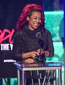 Keyshia Cole onstage at the BET Hip Hop awards at Boisfeuillet Jones Atlanta Civic Center on September 20 2014 in Atlanta Georgia