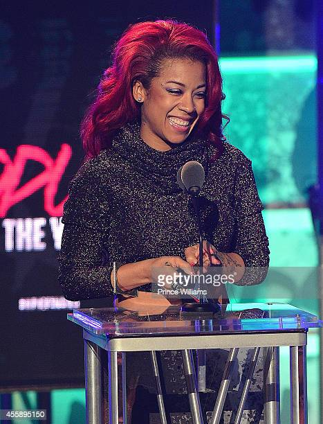 Keyshia Cole onstage at the BET Hip Hop awards at Boisfeuillet Jones Atlanta Civic Center on September 20 2014 in Atlanta Georgia