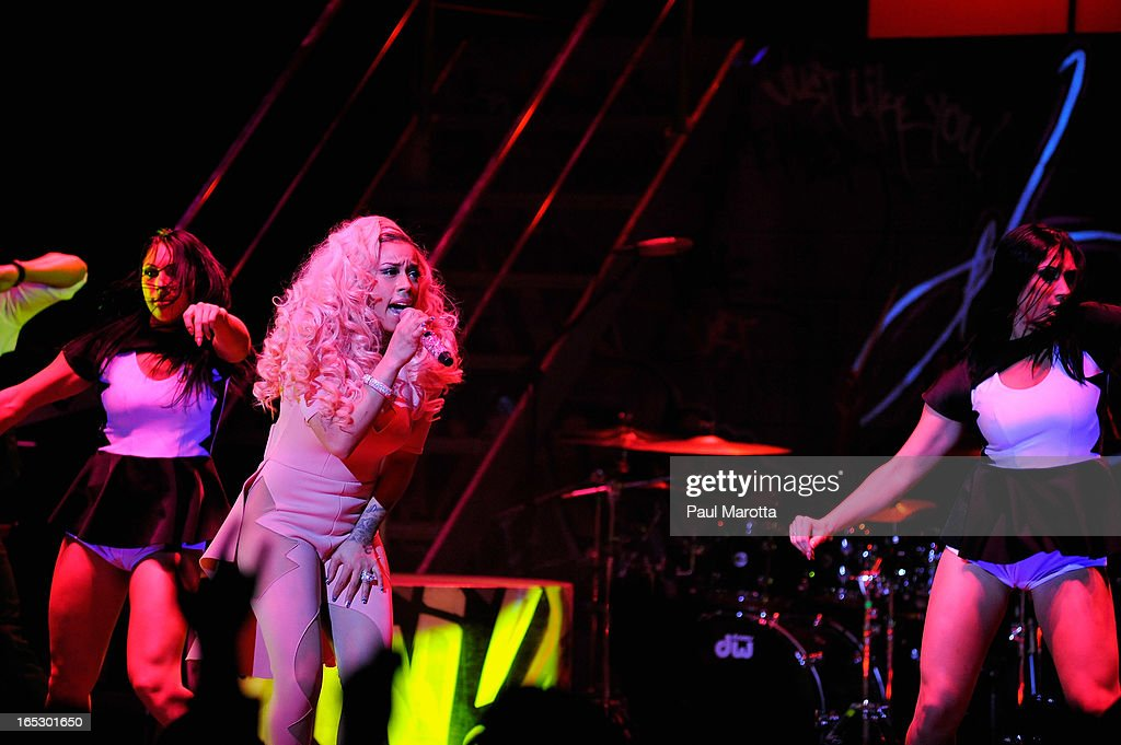 Keyshia Cole performs at The Orpheum Theatre on her 'Woman to Woman Tour' on April 2, 2013 in Boston, Massachusetts.
