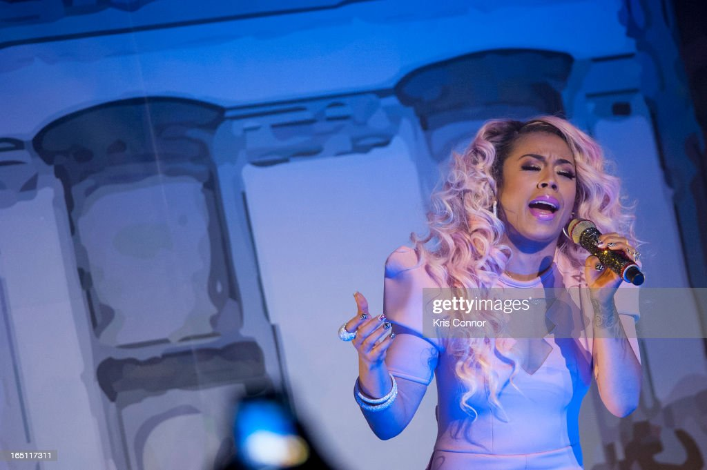 Keyshia Cole performs at Warner Theatre on March 30, 2013 in Washington, DC.