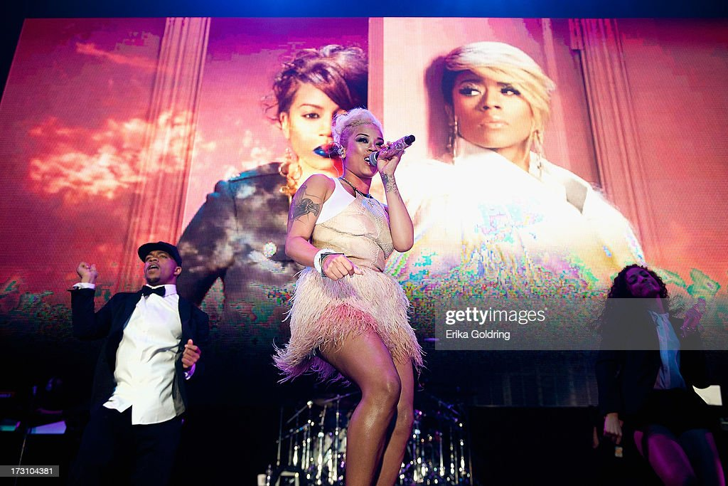 <a gi-track='captionPersonalityLinkClicked' href=/galleries/search?phrase=Keyshia+Cole&family=editorial&specificpeople=563536 ng-click='$event.stopPropagation()'>Keyshia Cole</a> performs during the 2013 Essence Festival at the Mercedes-Benz Superdome on July 6, 2013 in New Orleans, Louisiana.
