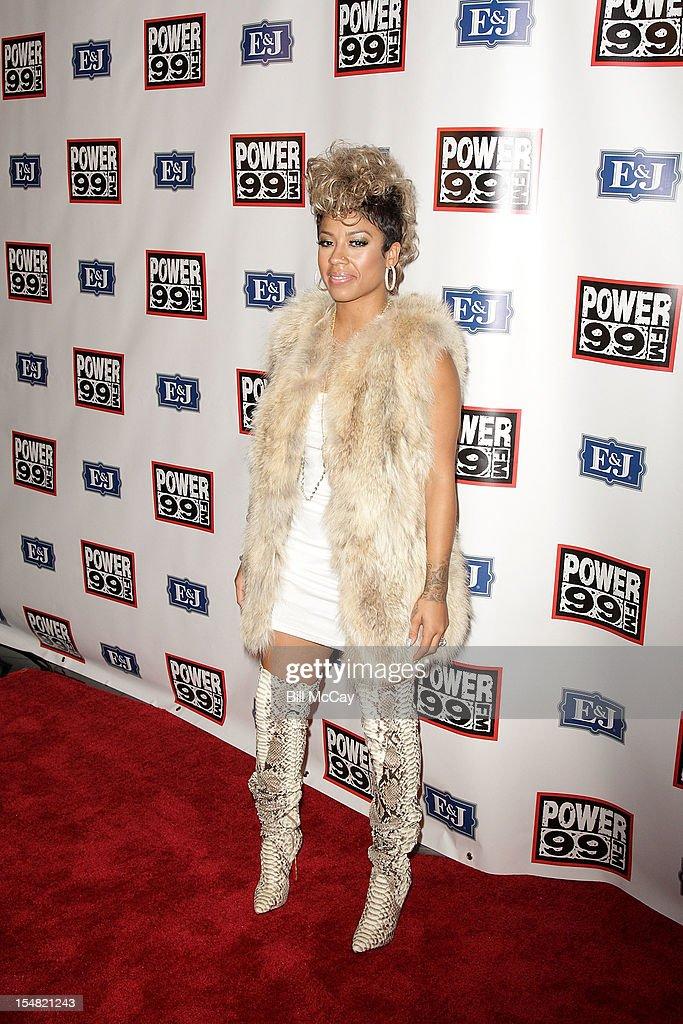Keyshia Cole poses at Power 99 Powerhouse 2012 at the Wells Fargo Center October 26, 2012 in Philadelphia, Pennsylvania.
