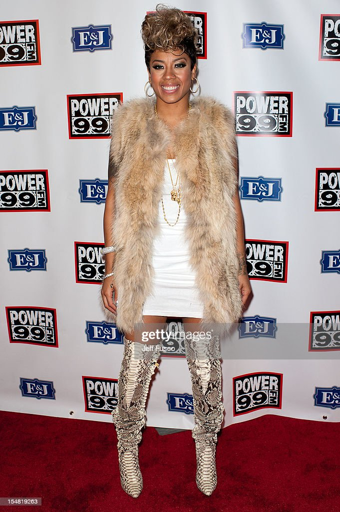Keyshia Cole poses at the Power 99 Powerhouse concert at the Wells Fargo Center on October 26, 2012 in Philadelphia, Pennsylvania.