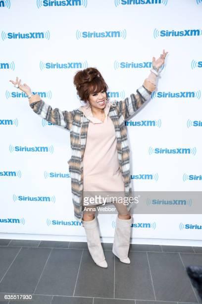 Keyshia Cole visits SiriusXM Studios on February 15 2017 in New York City