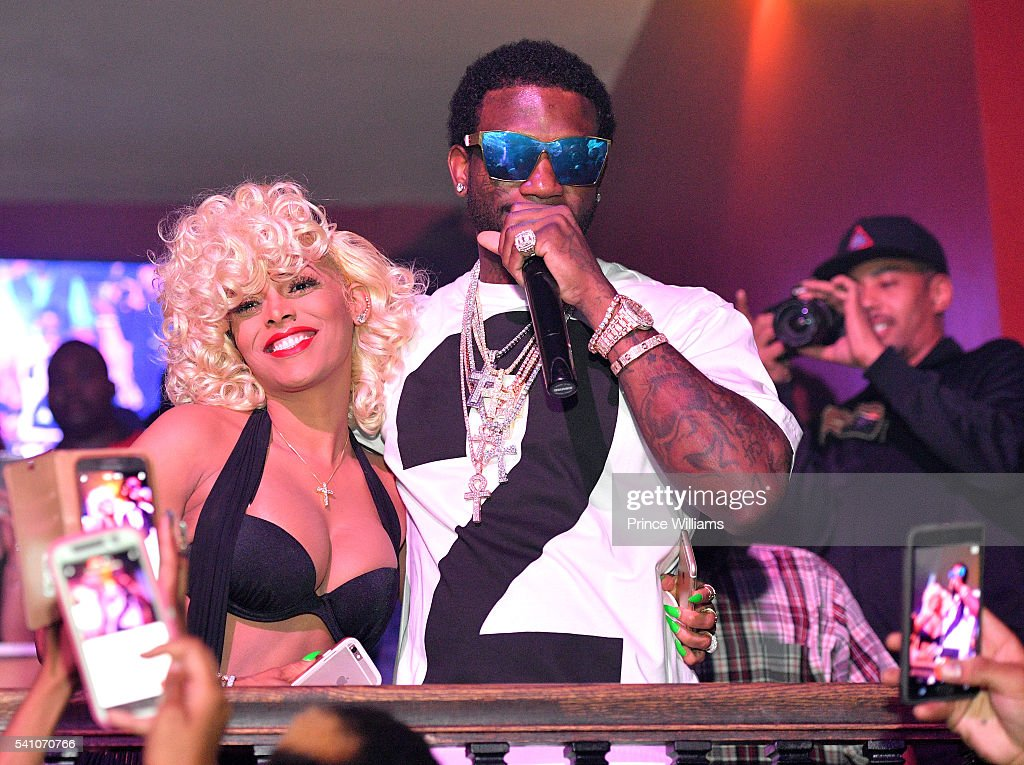 Keyshia Dior and Gucci Mane attend the Welcome Home Gucci Mane Concert at The Mansion Elan on June 18, 2016 in Atlanta, Georgia.