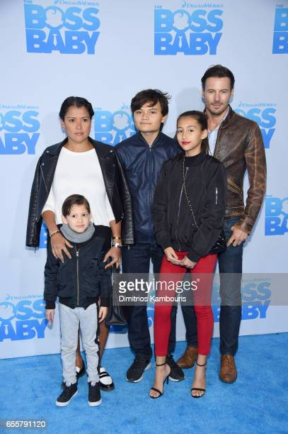 Keytt Lundqvist Alexander Lundqvist and guests attend 'The Boss Baby' New York Premiere at AMC Loews Lincoln Square 13 theater on March 20 2017 in...