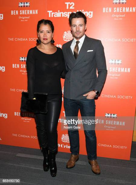 Keytt Lundqvist and Alex Lundqvist attend a screening of 'T2 Trainspotting' hosted by TriStar Pictures and The Cinema Society at Landmark Sunshine...