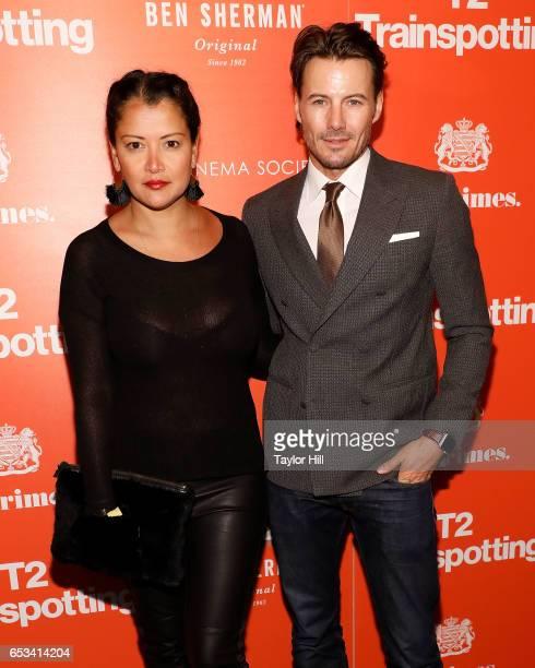 Keytt Lundqvist and Alex Lundqvist attend a TriStar and Cinema Society screening of 'T2 Trainspotting' at Landmark Sunshine Cinema on March 14 2017...