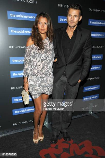 Keytt Lundqvist and Alex Lundqvist attend COLUMBIA PICTURES THE CINEMA SOCIETY host a screening of 'THE SOCIAL NETWORK' at The SVA Theater on...