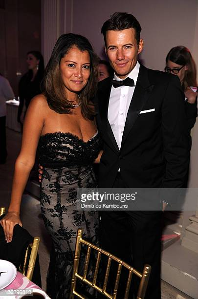 Keytt Lundqvist and Alex Lundqvist attend Gabrielle's Angel Foundation Hosts Angel Ball 2013 at Cipriani Wall Street on October 29 2013 in New York...