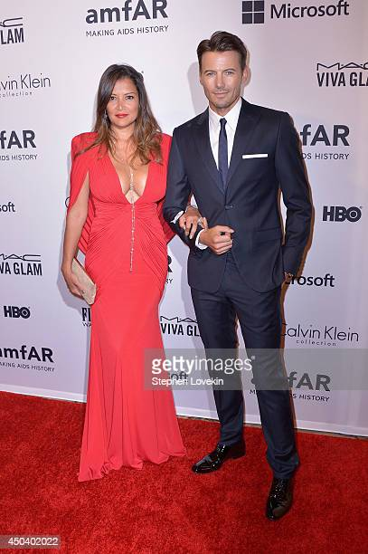 Keytt Lundqvist and Alex Lundqvist attend the amfAR Inspiration Gala New York 2014 at The Plaza Hotel on June 10 2014 in New York City