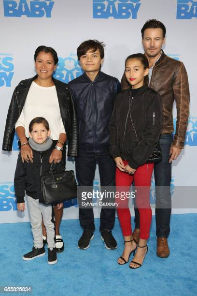 Keytt Lundqvist and Alex Lundqvist attend 'The Boss Baby' New York Premiere on March 20 2017 in New York City