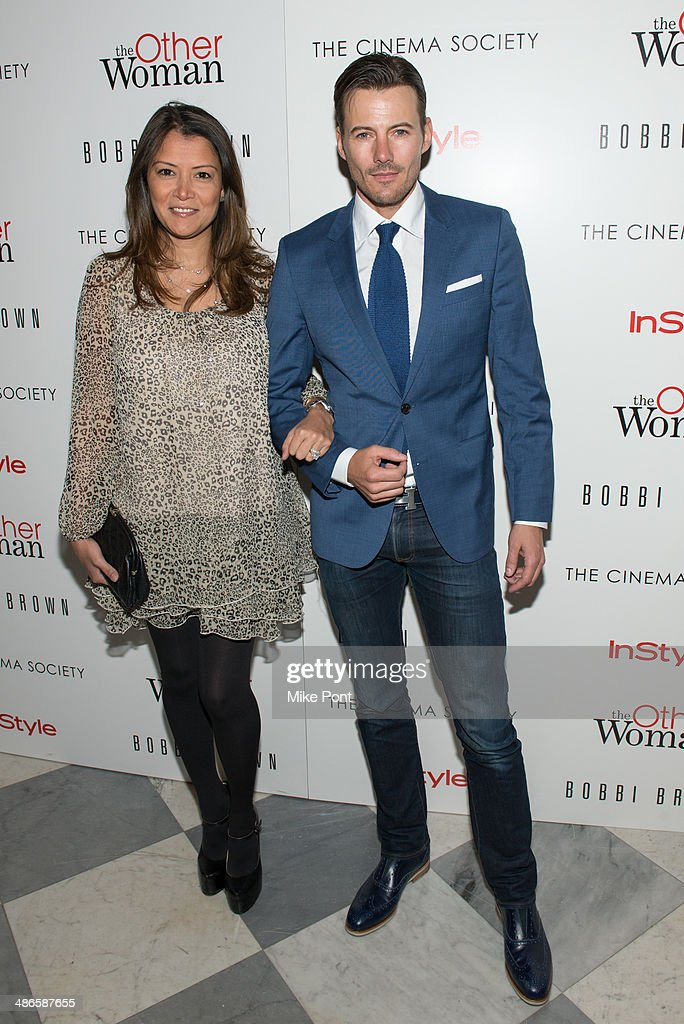 Keytt Lundqvist (L) and Alex Lundqvist attend The Cinema Society & Bobbi Brown with InStyle screening of 'The Other Woman' at The Paley Center for Media on April 24, 2014 in New York City.